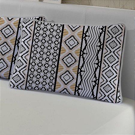 Jogo de Cama Solteiro de Malha 2 peças lençol com elástico e Fronha Edromania Creme Impala