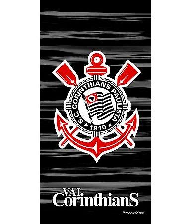 Toalha de Time de Futebol Aveludada Buettner Vai Corinthians