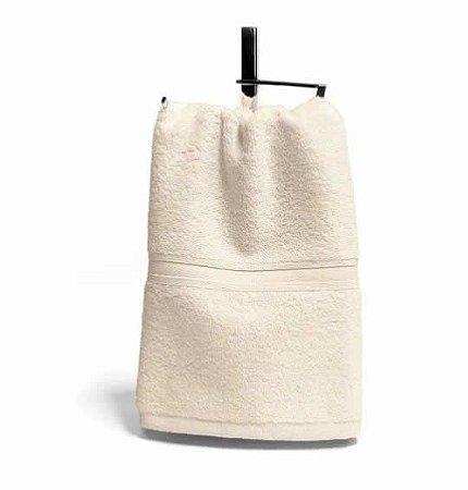 Toalha Social Lavabo 1 peça 100% algodão Egípcio 30cm x 50cm  Macia Bouton Platine Pérola