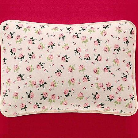 Jogo de Cama Queen 3 peças de Malha 100% algodão lençol com elástico liso e fronhas estampadas Vivaldi Melrose