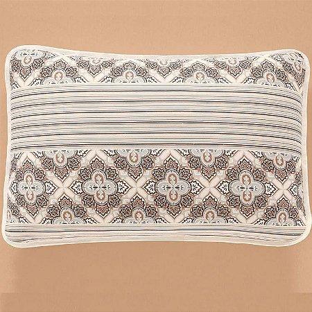 Jogo de Cama Queen 3 peças de Malha 100% algodão lençol com elástico liso e fronhas estampadas Vivaldi Sivas