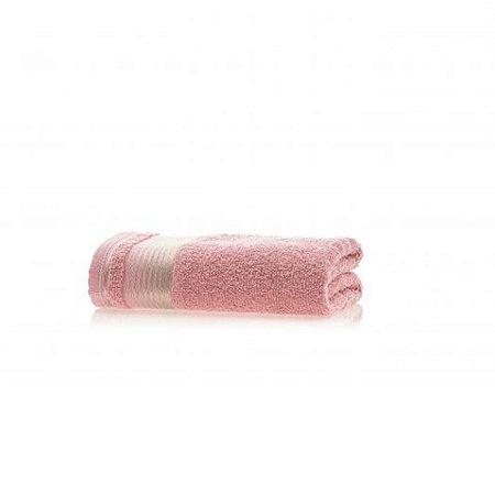 Toalha de Rosto avulsa 1 peça 100% algodão Quasar Rosa Crochê