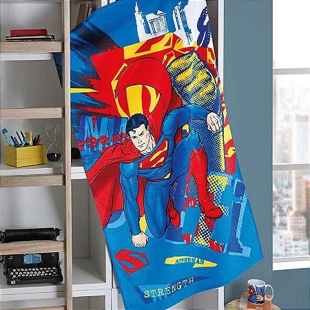 Toalha de Banho Velour aveludada Superman