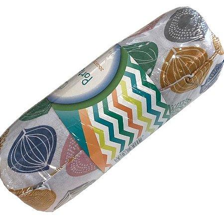 Jogo de Cama Solteiro 2 peças estampadas de Malha lençol com elástico estampado e fronha Folhas