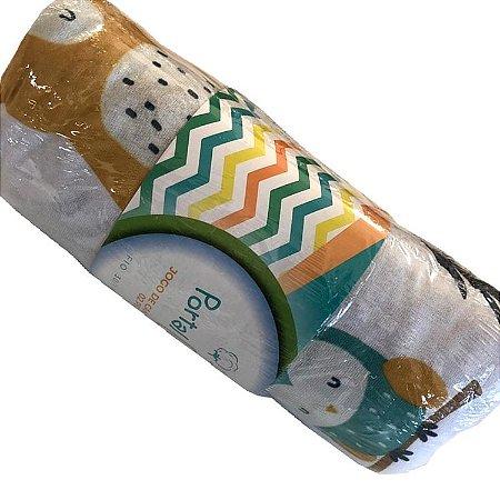 Jogo de Cama Solteiro 2 peças estampadas de Malha lençol com elástico estampado e fronha Animais Floresta