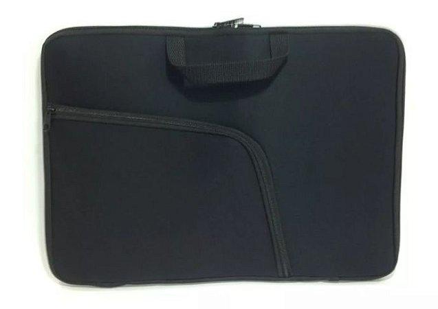 """Capa Case Pasta Notebook com Bolso 15,6"""" Preto"""