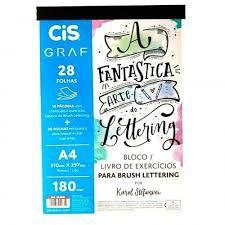 Bloco Para Lettering Com 28 Folhas - Papel A4 Gramatura 180 Graf Por Karol Stefanini Cis