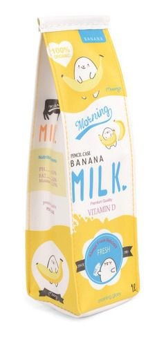 Estojo Milk Banana Up4you Amarelo Luxcel