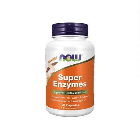 Super Enzymes 90 Cápsulas - NOW