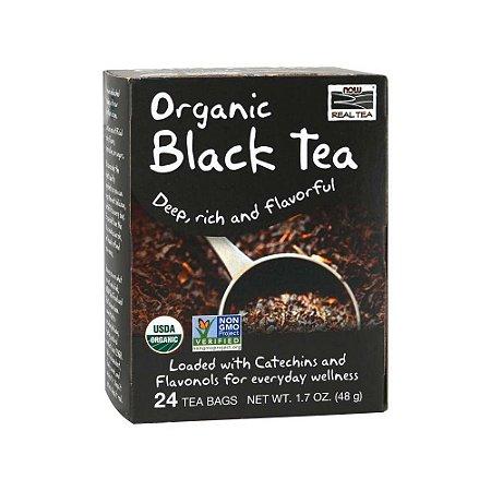 Chá Organic Black Tea 24 sachês - Now Real Tea
