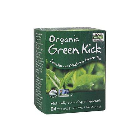Chá Organic Green Kick 24 sachês - Now Real Tea