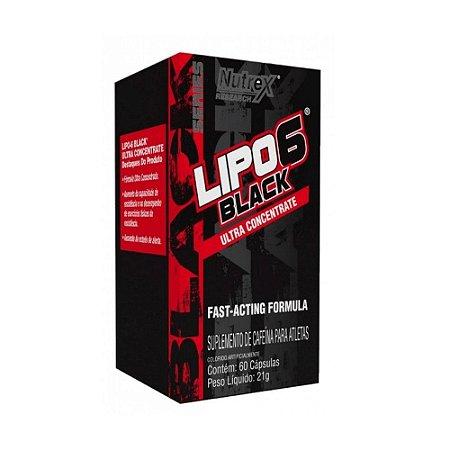 Lipo 6 Black Ultra Concentrado 120 cápsulas - NUTREX