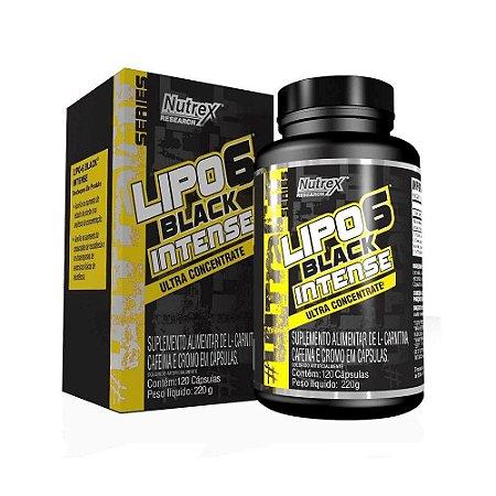 Lipo 6 Black INTENSE 120 Cápsulas - NUTREX