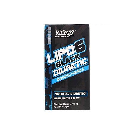 Lipo 6 BLACK Diuretic 80 Cápsulas (Importado) - Nutrex