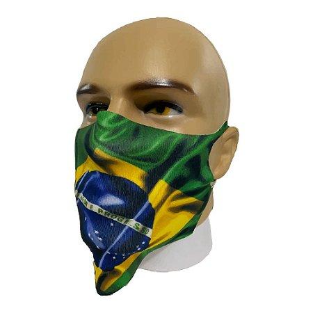 Kit 5 máscaras de Neoprene bandeira do Brasil - Reutilizável/Lavável