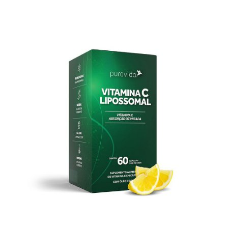 Vitamina C Lipossomal 1100mg 60 Caps - Puravida
