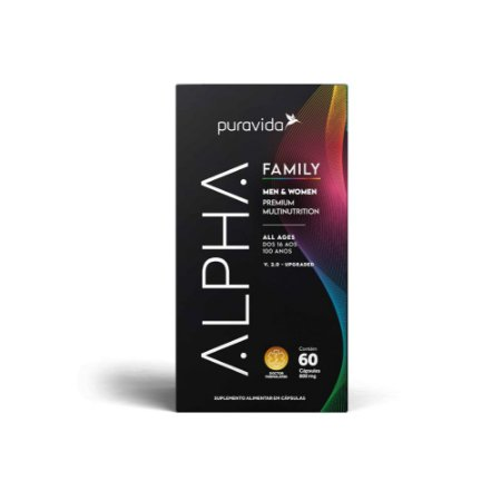 Multivitamínico ALPHA Family Men & Women 60 Cápsulas - Puravida