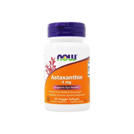 Astaxanthin 4mg 60 Veggie Softgels - NOW
