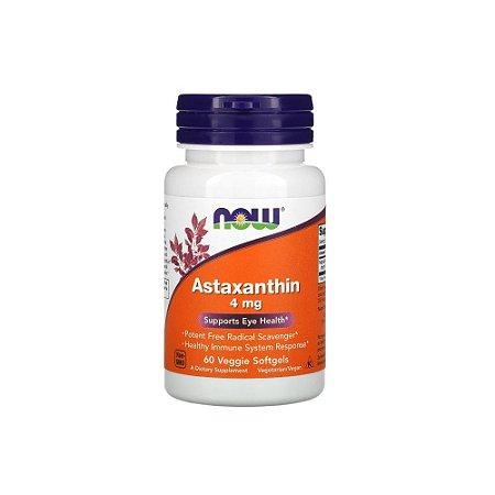 Astaxantina 4mg 60 cápsulas - NOW