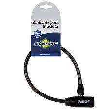 CADEADO BICICLETA BRASFORT 40CM COM CHAVE 7015