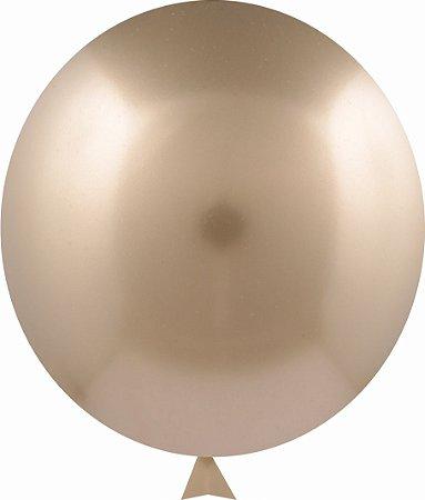 Balão Metalizado Dourado Nº9  C/25 Unidades - Maricota Festas