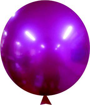 Balão Metalizado Fucsia Nº9 C/25 Unidades - Maricota Festas