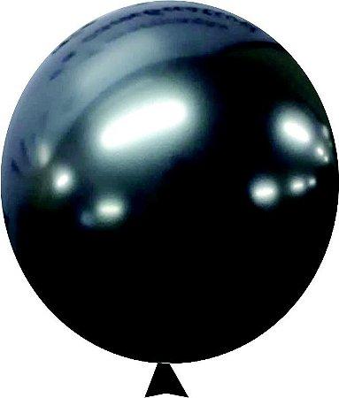 Balão Metalizado Onix Nº9  C/25 Unidades - Maricota Festas