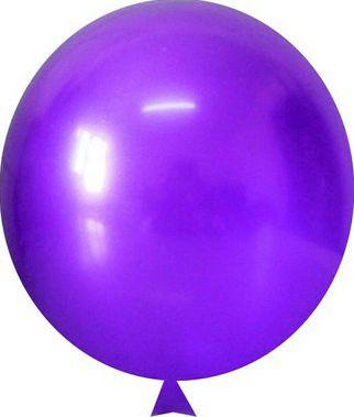 Balão Redondo Violeta Nº9 Metal C/25 Unidades. Maricota Festas