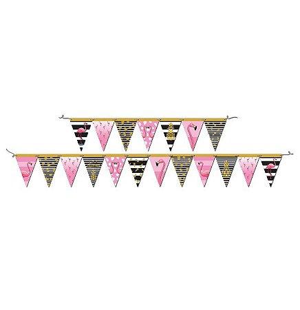 Faixa Decorativa Flamingo - Maricota Festas