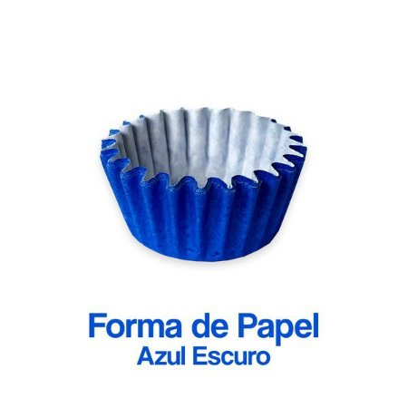 Forminha Nº05 Plac Azul Escuro C/100 Unidades - Maricota Festas