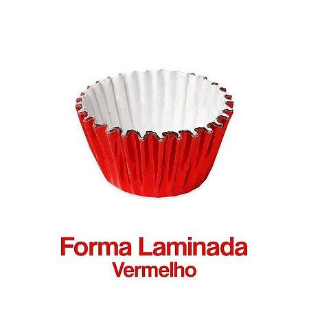 Forminha Laminada Nº06 Vermelha C/100 Unidades - Maricota Festas