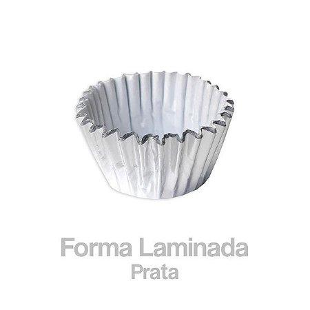 Forminha Laminada Nº05 Prata C/100 Unidades - Maricota Festas