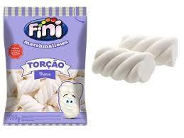 Marshmallow Torcido Branco 250G FINI - Maricota Festas