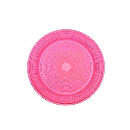 Prato Descartável Pink 15CM c/10 Unid. - Maricota Festas