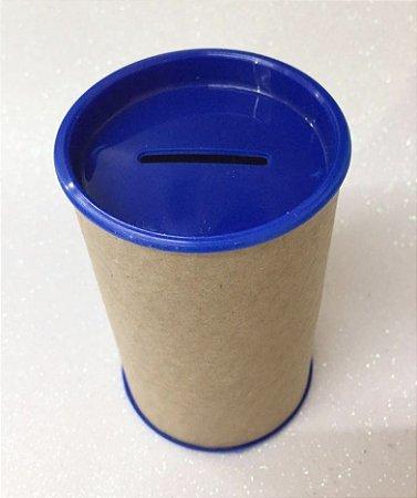 Cofrinho de Papel Tampa Azul Escuro 10x6 - Unidade.