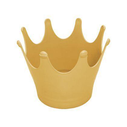 Cachepot Coroa - Dourado - Unidade - Maricota Festas