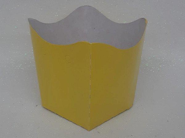 Cachepot Pequeno de Papel Amarelo C/10 - Unidade. Maricota Festas