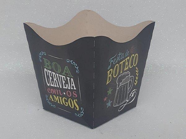Cachepot Pequeno de Papel Boteco C/10 - Unidade. Maricota Festas