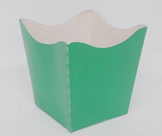 Cachepot Pequeno de Papel Verde Escuro C/10 - Unidade. Maricota Festas