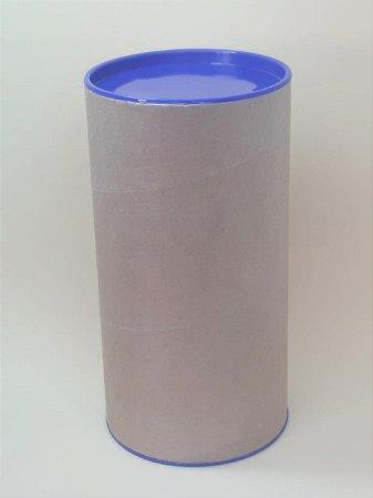 Tubo Lata Kraft 10x32 cm tampa plástica Azul Escura -ideal para garrafas