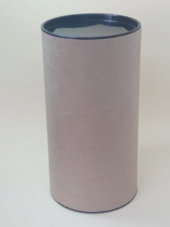 Tubo Lata Kraft 10x32 cm tampa plástica Preto - ideal para garrafas