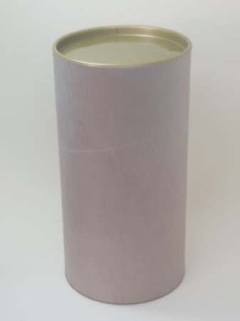 Tubo Lata Kraft 10x32 cm tampa plástica Dourada -ideal para garrafas