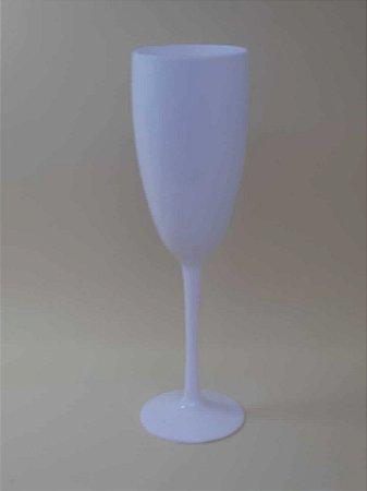 Taça de Champanhe Acrílica Branca - Maricota Festas