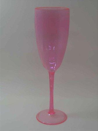 Taça de Champanhe Acrílica Rosa Cristal - Maricota Festas