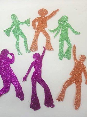 Aplique em EVA Dance Color - c/ 6 Unid.  - Maricota Festas