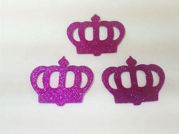 Aplique em EVA Coroa Pink c/ 6 Unid.  - Maricota Festas