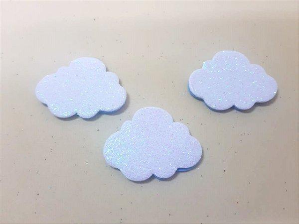 Aplique em EVA Nuvem Azul - c/06 Unid.  - Maricota Festas