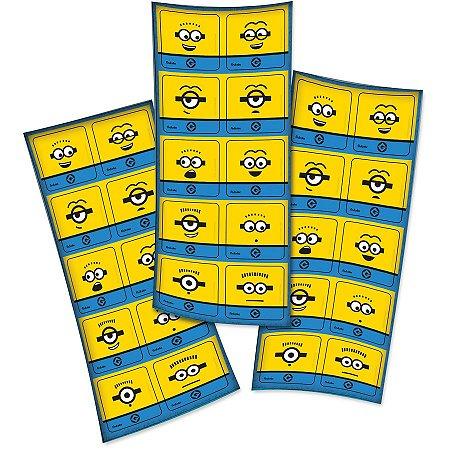 Adesivo Quadrado Minions c/ 30Unid. - Maricota Festas
