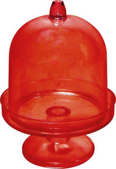 Cúpula Acrílica Vermelha Média c/ 12 Unid. - Maricota Festas