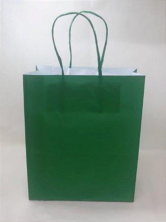 Sacola Kraft Verde E$scuro 18x9x22cm c/10 Unid. - Maricota Festas